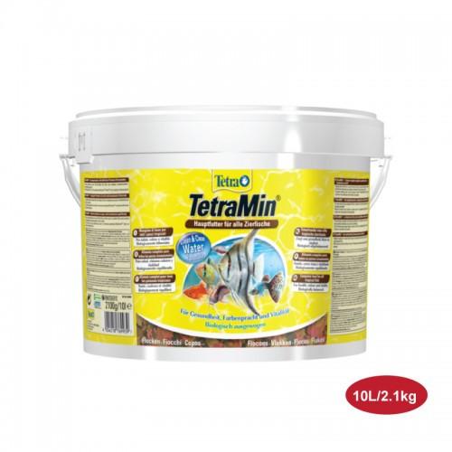 Tetra Min Flakes 10 l (2.1 кг) универсальные хлопья, чипсы основной корм для рыб