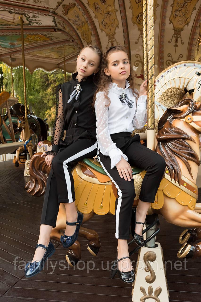 Нарядная школьная блузка на девочку от производителя