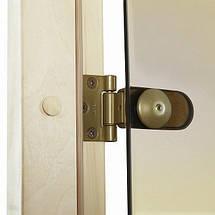 Двери для сауны GREUS PREMIUM 70х190 см (матовая бронза) 2 петли, фото 2