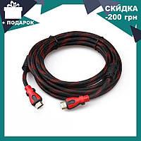 Кабель HDMI-HDMI 10M усиленный в обмотке | шнур переходник HDMI, фото 1