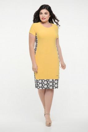 Молодіжна жіноча сукня Анжела жовта  (50-60)