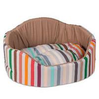 Лежак для собак Коралл 3 (66*57*29 см) бежевый/коричневый