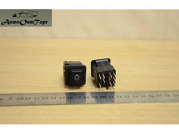 Кнопка габаритів ЗАЗ Таврія 1102, Славута, Дана,1103, 1105 (9 контактів), фото 2