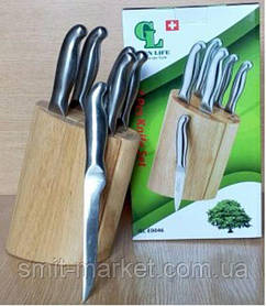 GL - 0046-1 Ножі на підставці (набір 7 шт)