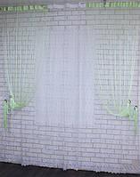 "Декоративный комплект комбинация со шторами-нитями ""Кисея""  3,м*2,5м. Код 029дк (109-033) е809"