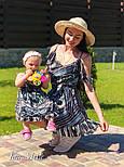 Женский набор для мамы и дочки платье в принт v9321, фото 2