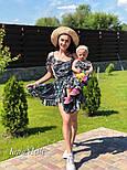 Женский набор для мамы и дочки платье в принт v9321, фото 3