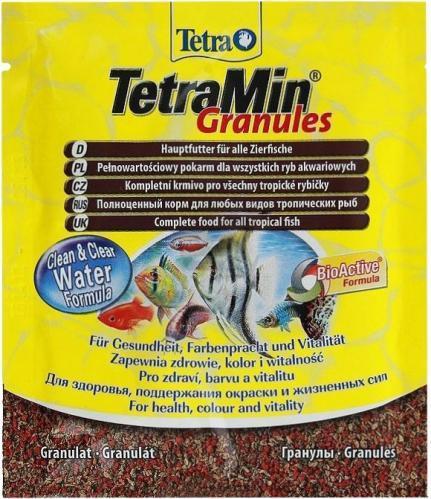 Tetra Min Granules 15 г основной универсальный корм для аквариумных рыб