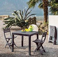 Комплект садовый стол Sumatra + 6 стульев BIRKI антрацит