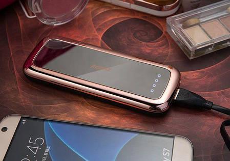 Портативное зарядное устройство power bank mirror 50000 mah Золотой, фото 2