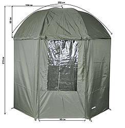 Зонт для рыбалки Ranger Umbrella 50 RA 6616 с регулировкой наклона, темно-зеленый
