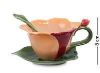 Фарфоровая чайная пара Орхидея Pavone CMS-05/ 2