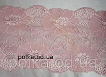 """Стрейчевое кружево""""маки"""",ширина 18см,цвет розовый пудра,красный,синий(цена за 1 м)"""