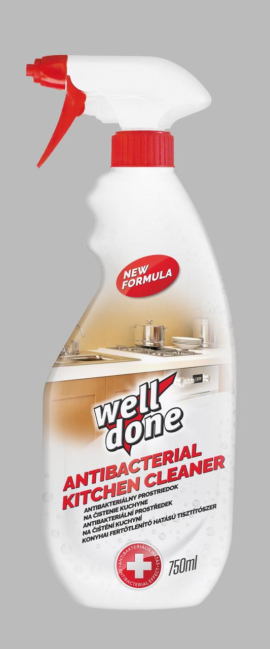 Средство для чистки кухни Well Done с дезинфицирующем эффектом 750 мл спрей