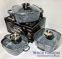 Набор кастрюль с мраморным покрытием 6 предметов Edenberg EB 8030