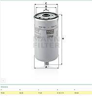 Фильтр топлива (WDK 725) (51125030040) (95003)