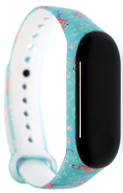 Ремешок MiJobs для Xiaomi Mi Band 3/4 Силикон Фламинго Бирюзовый
