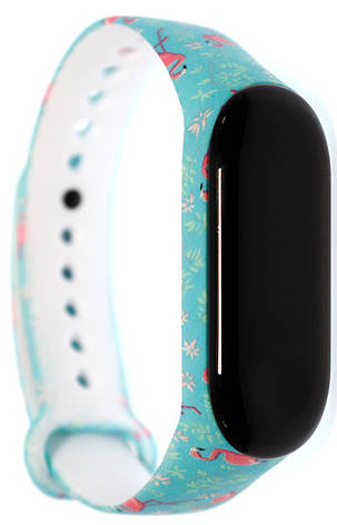 Ремешок MiJobs для Xiaomi Mi Band 3/4 Силикон Фламинго Бирюзовый, фото 2