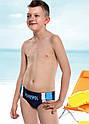 """Подростковые купальные плавки для мальчика """"Surfers"""" темно-серые р.146 (KEYZI, Польша), фото 3"""