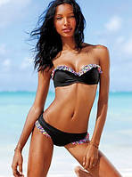 Раздельный черный купальник с рюшами Victoria`s Secret (реплика), фото 1