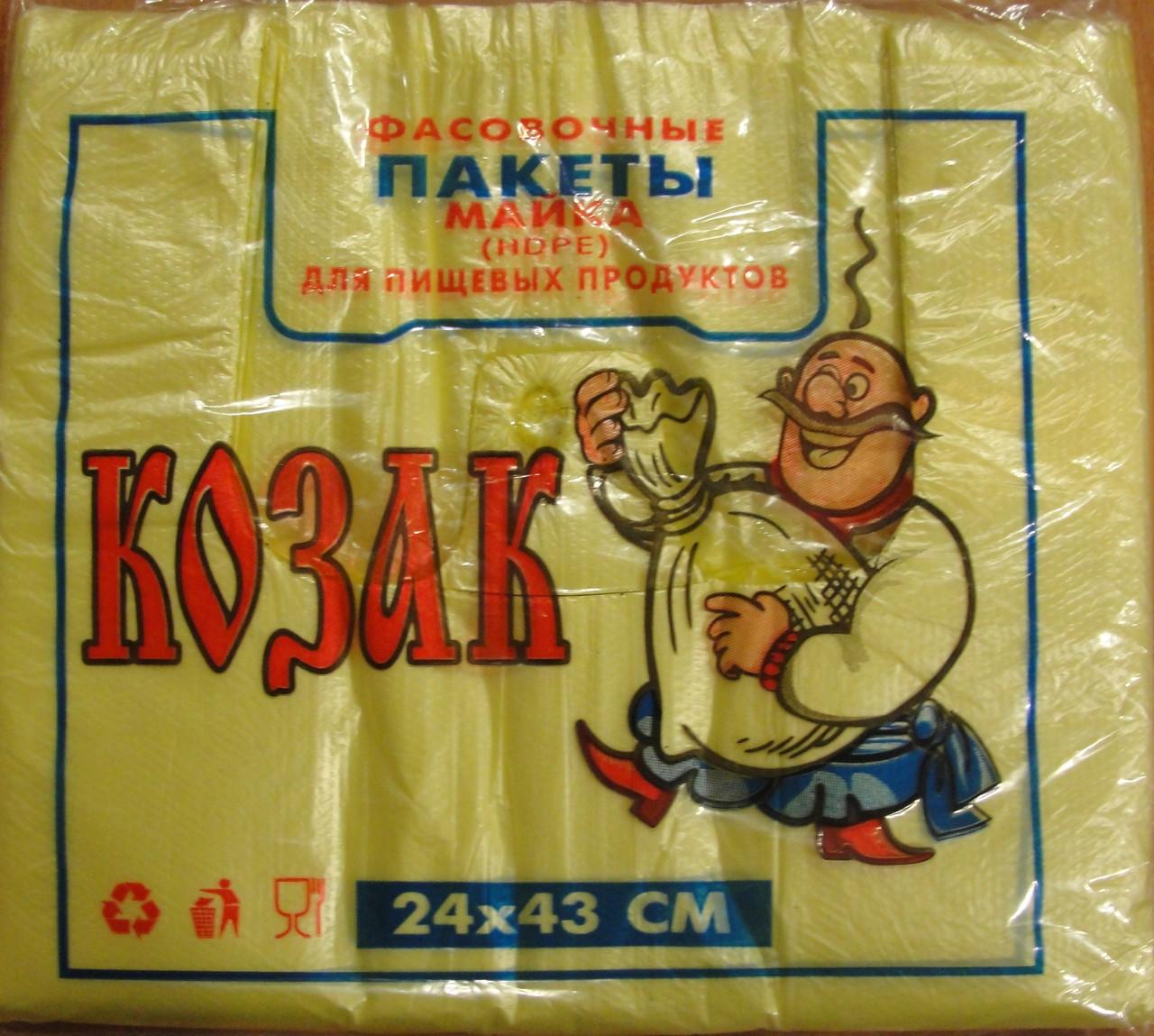 Пакет майка козак 24*43 50уп/меш