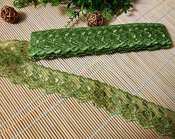 Кружево  4 см оливковое