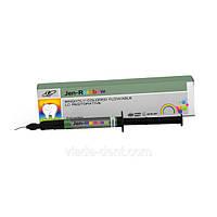 Текучий гибридный композит 41433 JEN-RAINBOW Lime Fluo, цветной текучий композит, оттенок - Лайм Флуоресц,шпр.