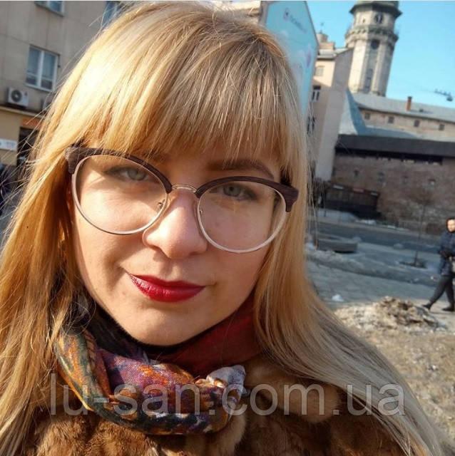 2c8be21aa2ce Купить Модные очки с диоптриями, круглые. Модель 2143 черные от