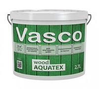 VASCO WOOD AQUATEX светостойкая декоративная пропитка для дерева 2,7л В цвете