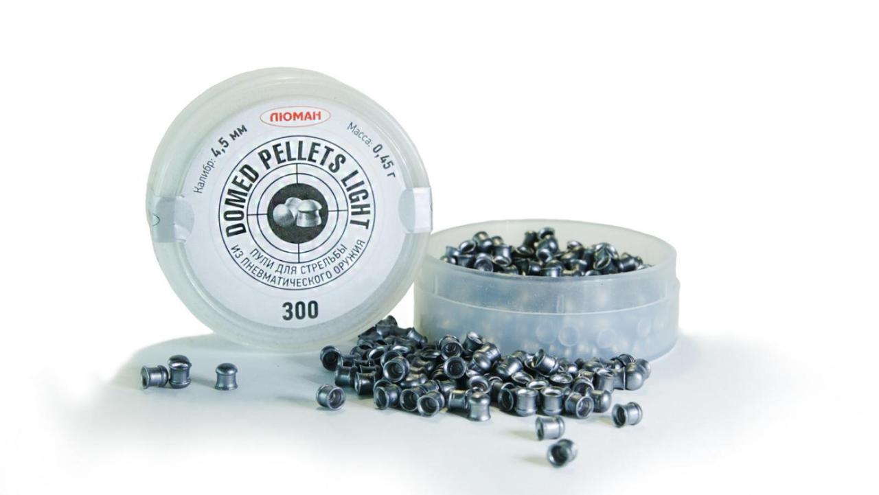 Пули 4,5 мм Люман Domed Light Pellets, 0,45 г (300 шт)