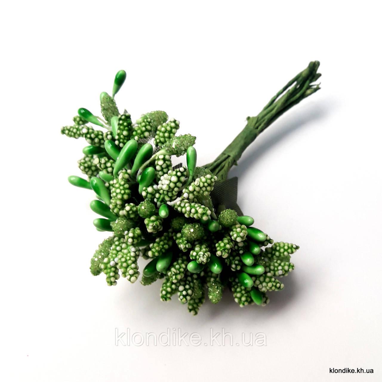 Букет тычинок, Цвет: Зелёный