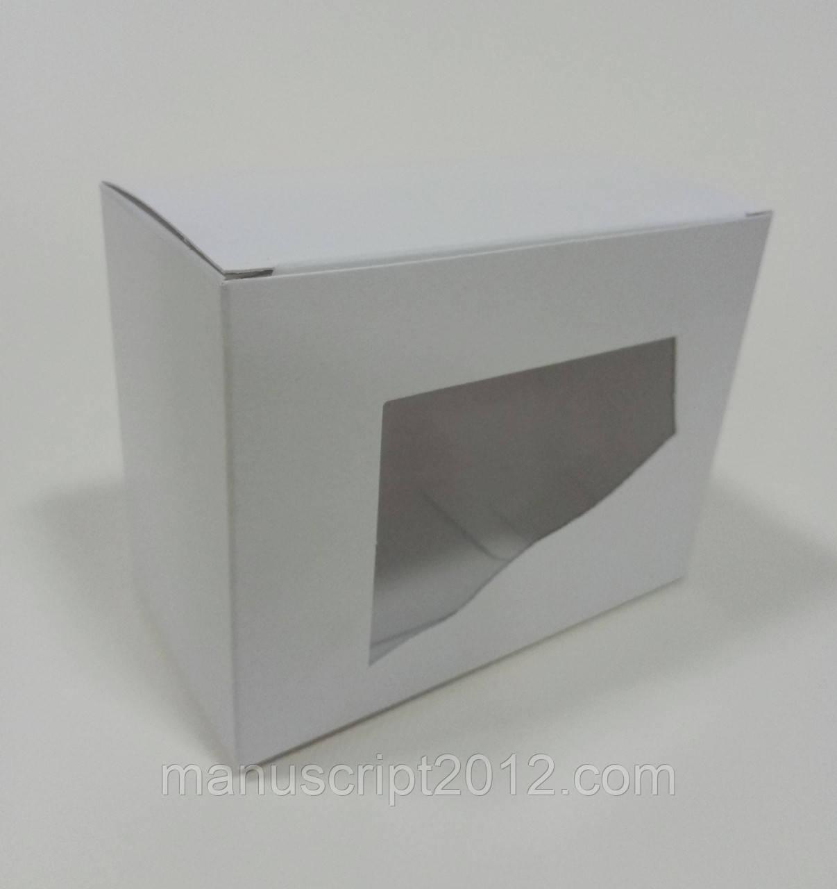 Коробка біла 110х85х58 мм. з вікном