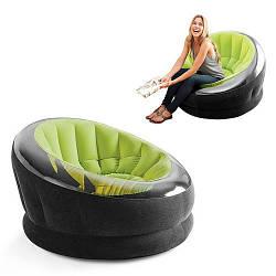 Велюровое кресло Intex, зеленое (68582)