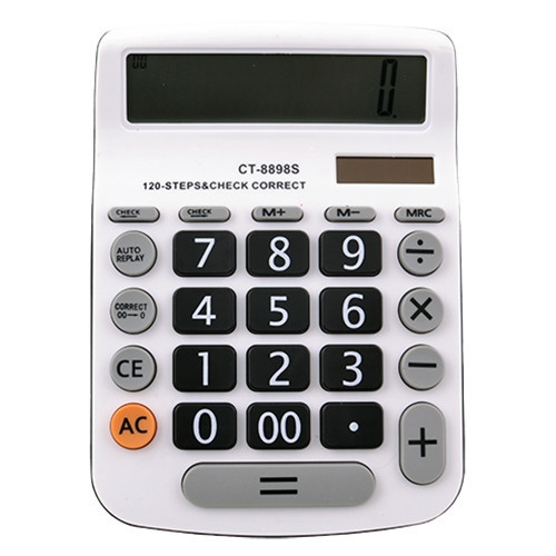 Калькулятор CT-8898S - 12,  двойное питание