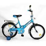 """Детский двухколесный велосипед EXPLORER 18""""  голубой с синим"""