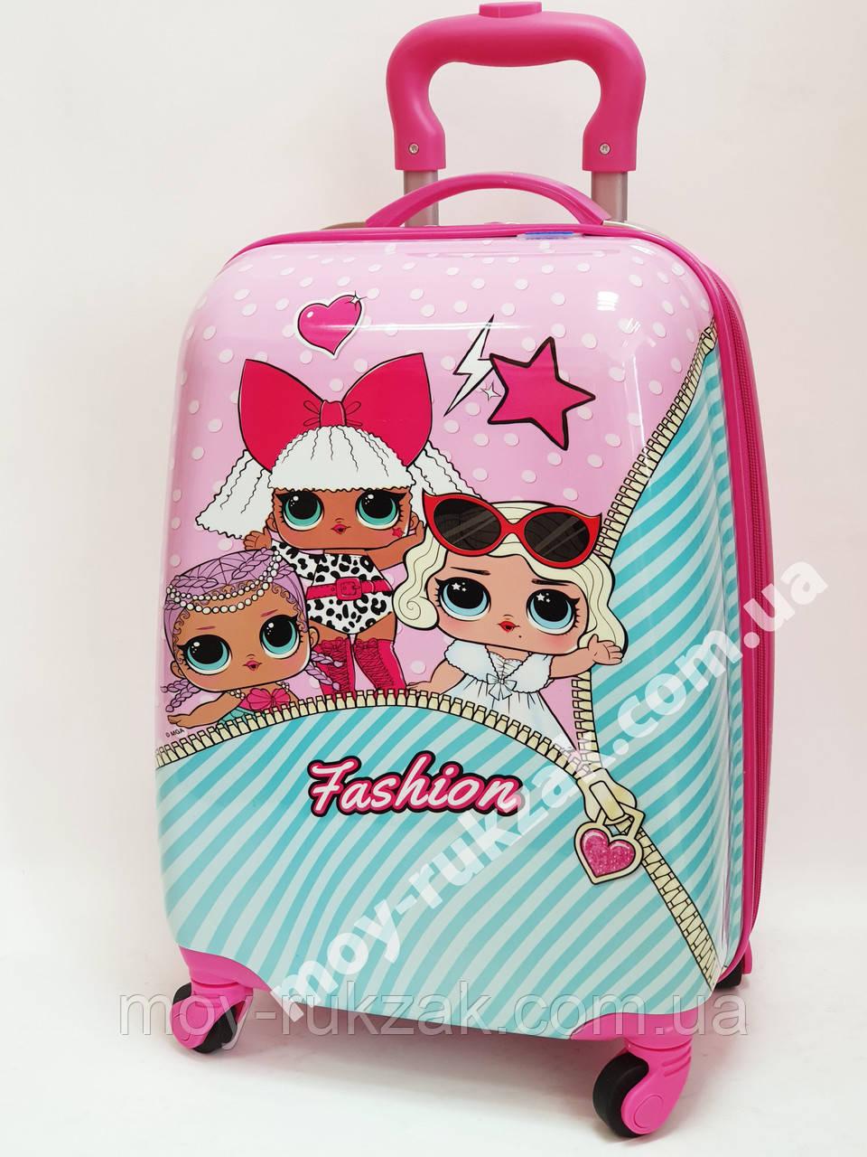 Детский чемодан дорожный на колесах «Куклы ЛОЛ» LOL-4