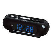 Часы сетевые 716-5 синие, 220W
