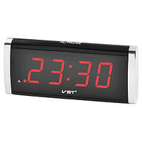 Часы сетевые 730-1 красные, 220W