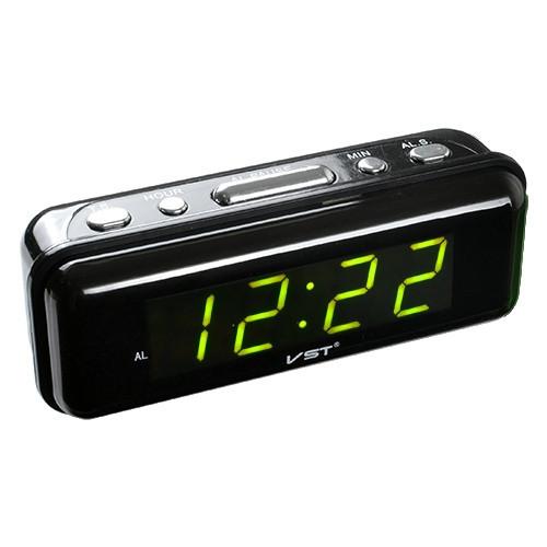 Часы сетевые 738-2 зеленые, 220W