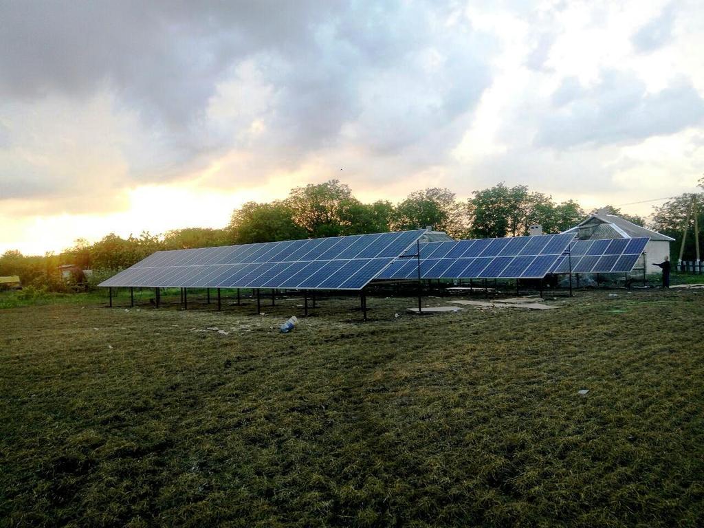 """Степовое солнечная электростанция под """"зеленый"""" тариф мощностью 40 кВт Risen + Huawei Днепропетровская область"""
