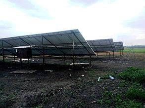 Тыльная сторона ферм с установленными панелями.