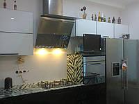Кухня Зебра, лакобеливое стекло Диамант, фото 1
