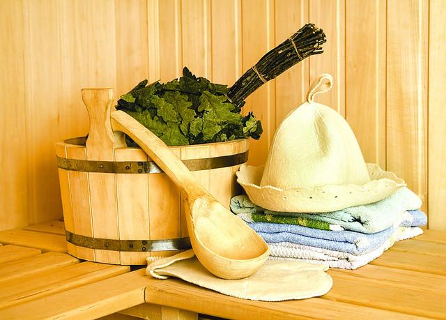 Шапки и наборы для бани и сауны