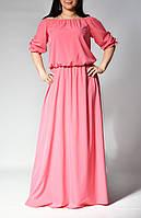 Женское платье в пол с рукавом три четверти от бренда Adele Leroy.