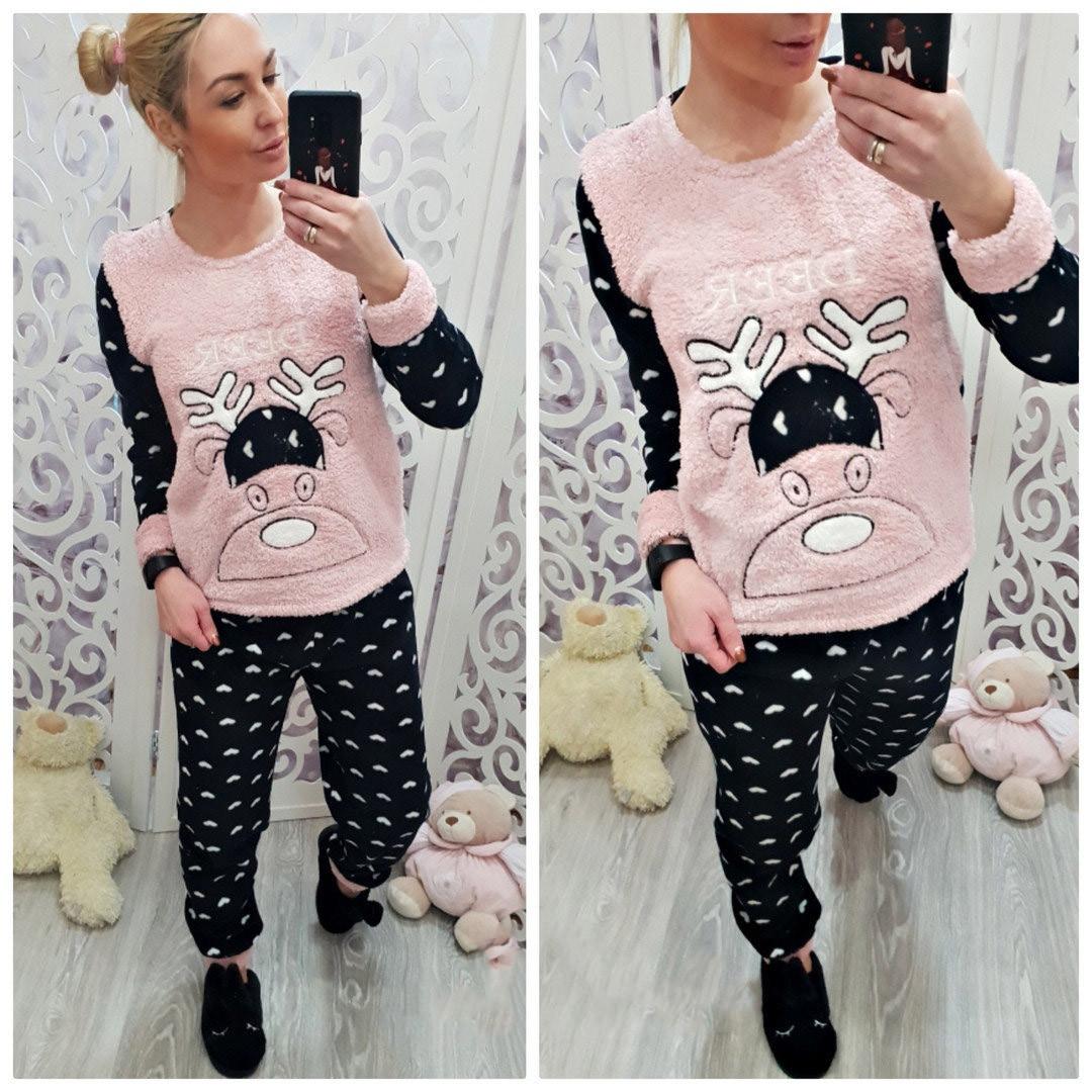 8105a2b528ecc Теплая махровая пижама мягкая и пушистая Турция - Интернет-магазин