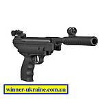 Пневматичний пістолет Hatsan mod 25 (в комплекті пулеулавливатель, мішені і банку куль), фото 2