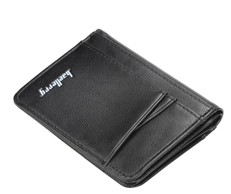 Чоловічий гаманець BAELLERRY Card Wallet Short портмоне Чорний (SUN4537)