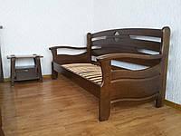 """Прямой диван из массива натурального дерева от производителя """"Луи Дюпон Люкс"""""""