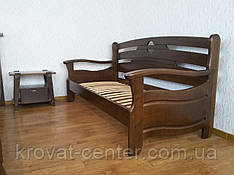 """Прямий диван з масиву натурального дерева від виробника """"Луї Дюпон Люкс"""""""
