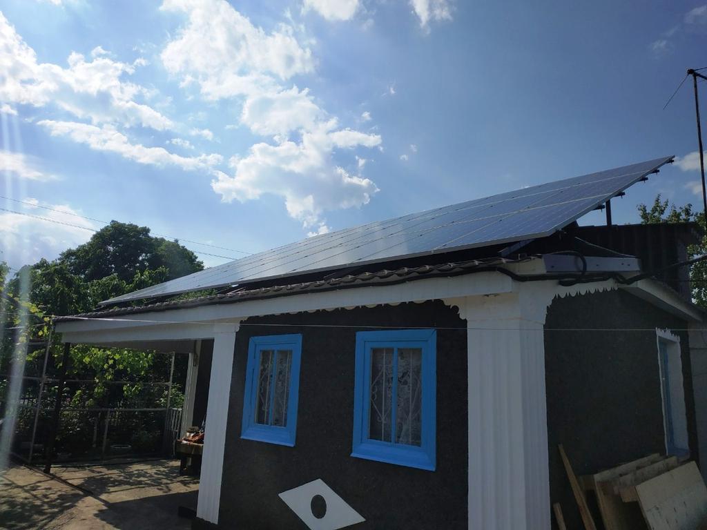 """Степовое солнечная электростанция под """"зеленый"""" тариф мощностью 34 кВт Risen + Huawei Днепропетровская область"""